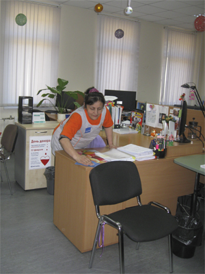 уборка служебного помещения